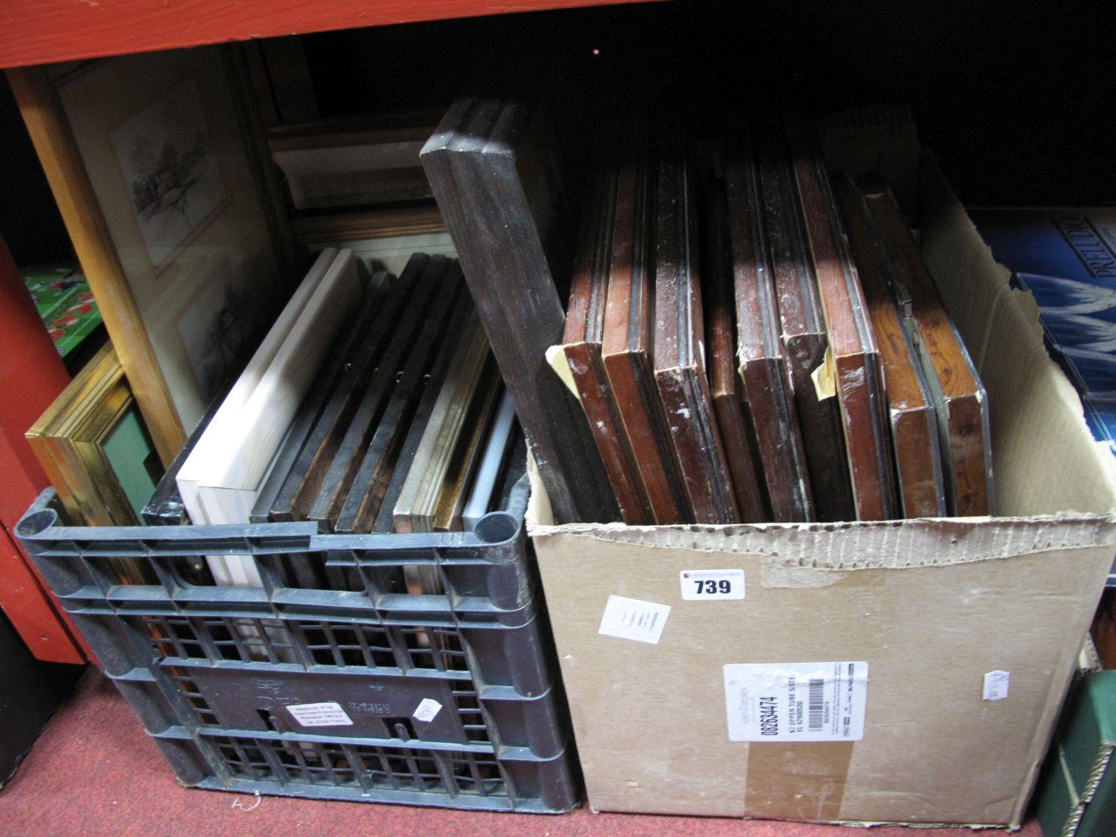 Lot 739 - Quantity of Prints, frames etc:- Two Boxes