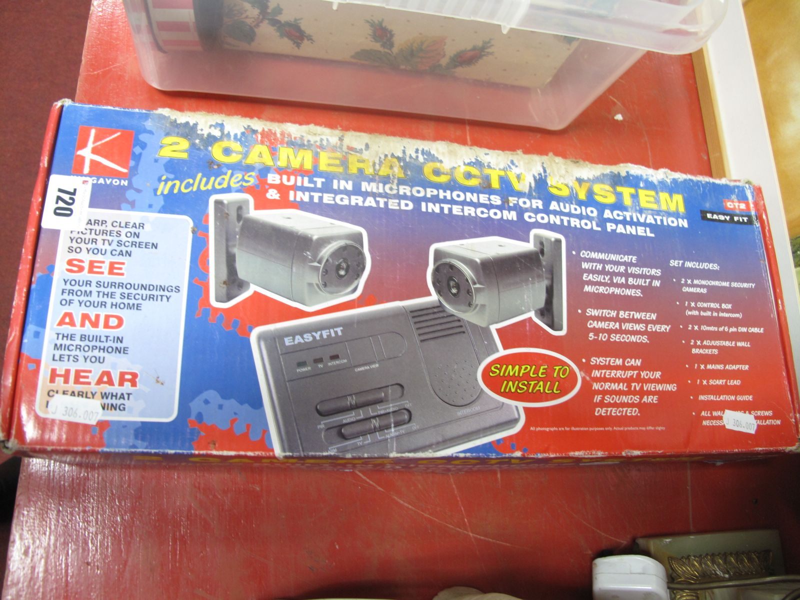 Lot 720 - A Two Camera CCTV System, by Kingavon, boxed.