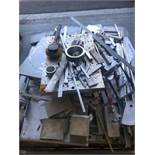 Scrap metal on square pallet, mostly aluminum