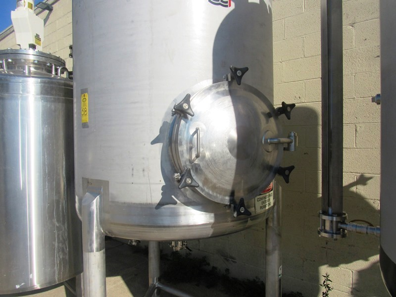 Lot 58 - Stainless Steel Single Wall Tank, approximate 4' dia x 5' straight side, dished top and bottom,