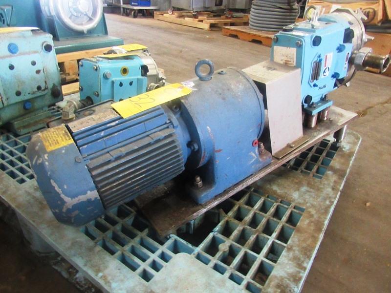 Lot 32 - SPX Mdl. 030U Positive Displacement Pump on 5 h.p. 230/460 volt motor