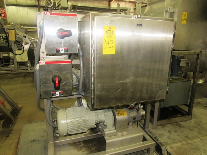 """Lot 43 - DSI Process Systems Metering Pump, 1"""" positive displacement pump, 1"""" inlet/outlet on motor &"""