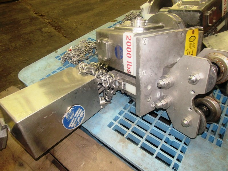 Lot 14 - David Round Stainless Steel Manual Hoist, 2000 Lb. capacity, stainless steel chain container,