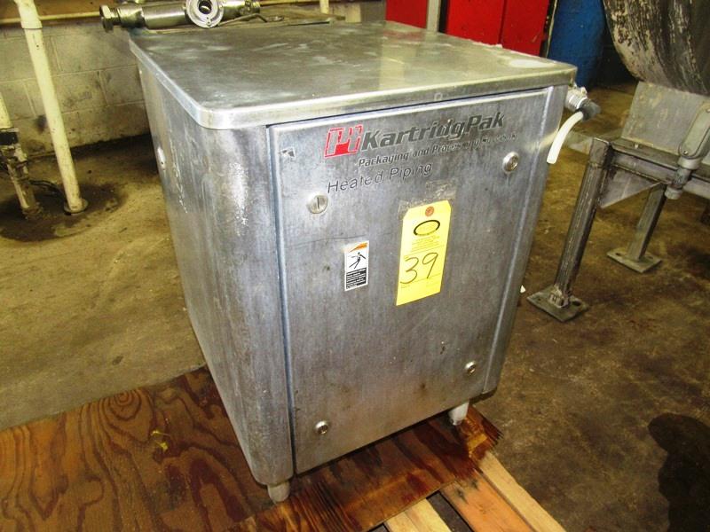 "Lot 39 - Kartridge Pak Stainless steel water heating/holding tank. 16"" wide x 21"" long x 22"" deep"