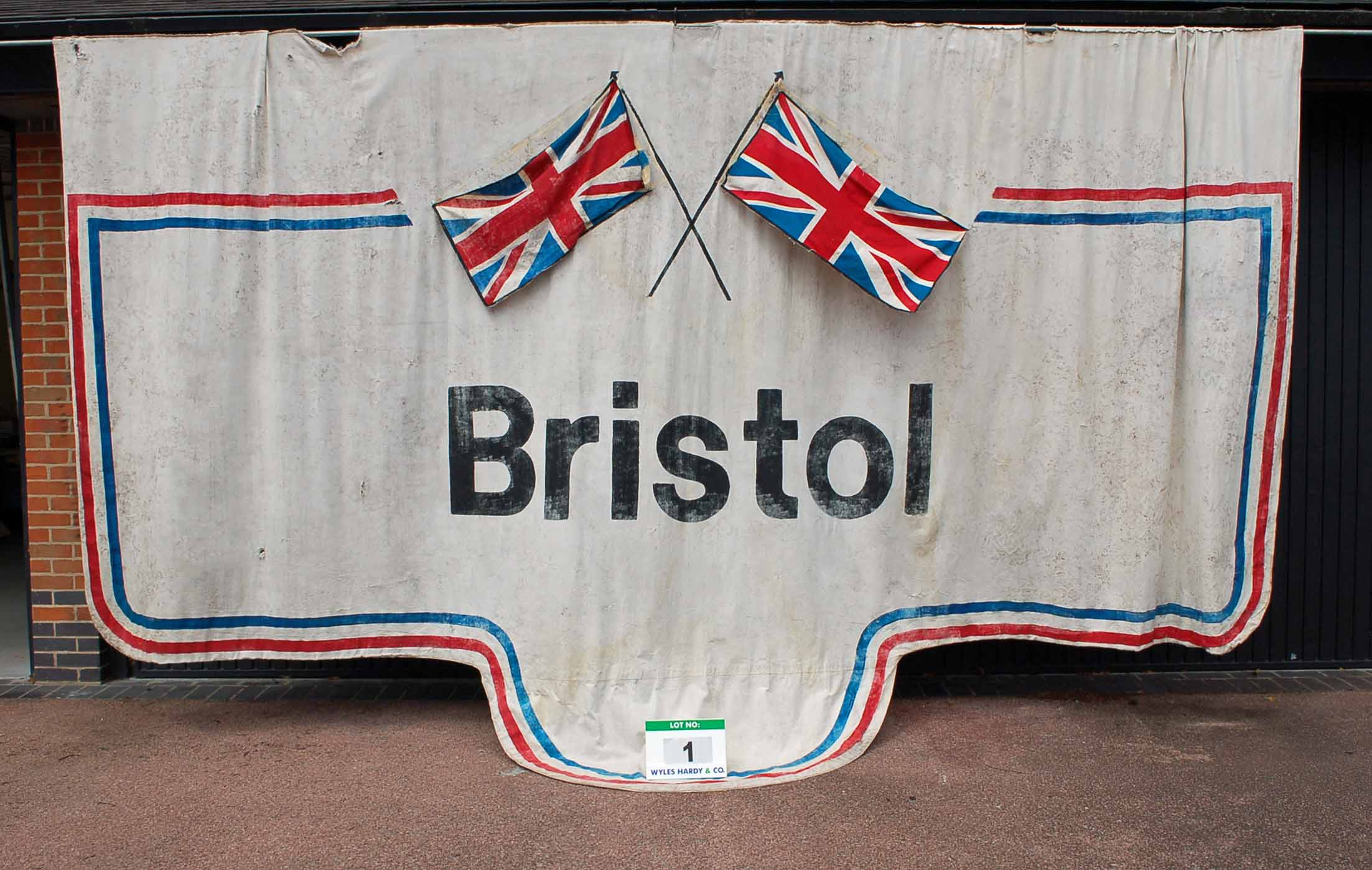 A 5.5M x 3.4M Double Sided Printed Canvas Bristol Wall Banner