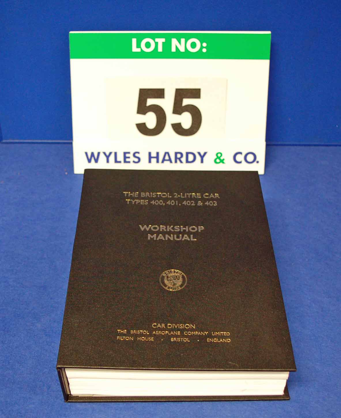 A Copy of The Bristol 2-Litre Car Types 400, 401, 402 and 403 Workshop Manual (New/Unused)