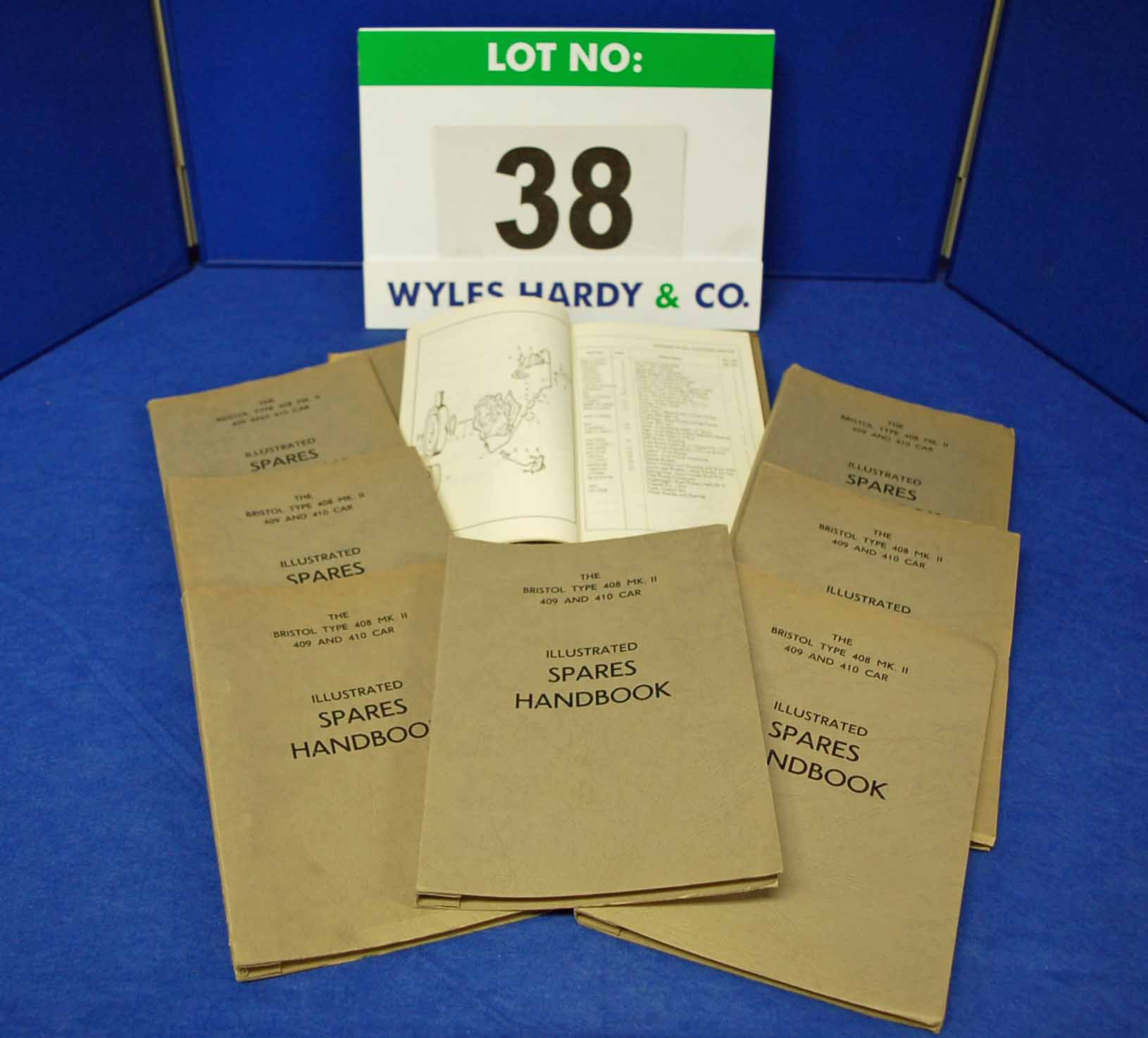 Eight Copies of the Spares Handbook for The Bristol Type 408 Mk II, 409 and 410 Car