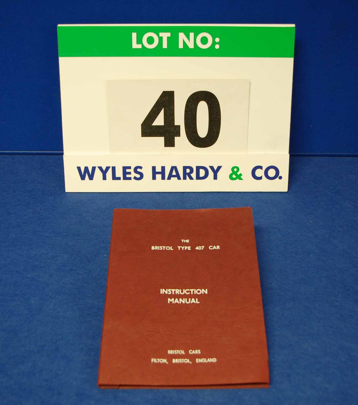 A Copy of The Bristol Type 407 Car Instruction Manual