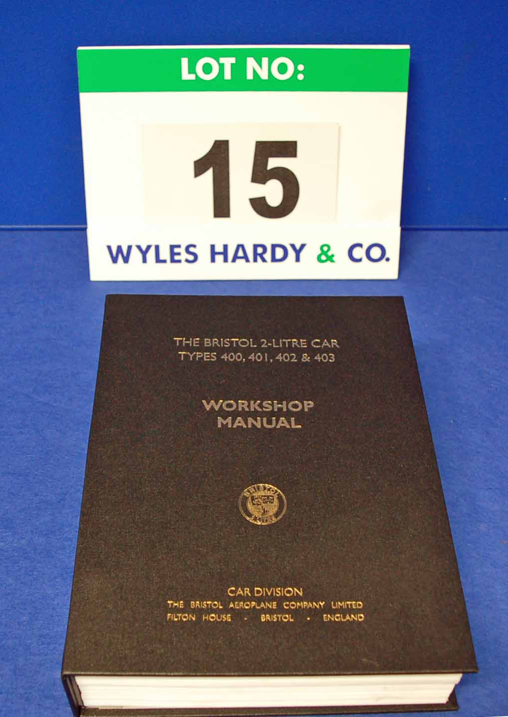 A Copy of The Bristol 2-Litre Types 400, 401, 402 and 403 Workshop Manual (New/Unused)
