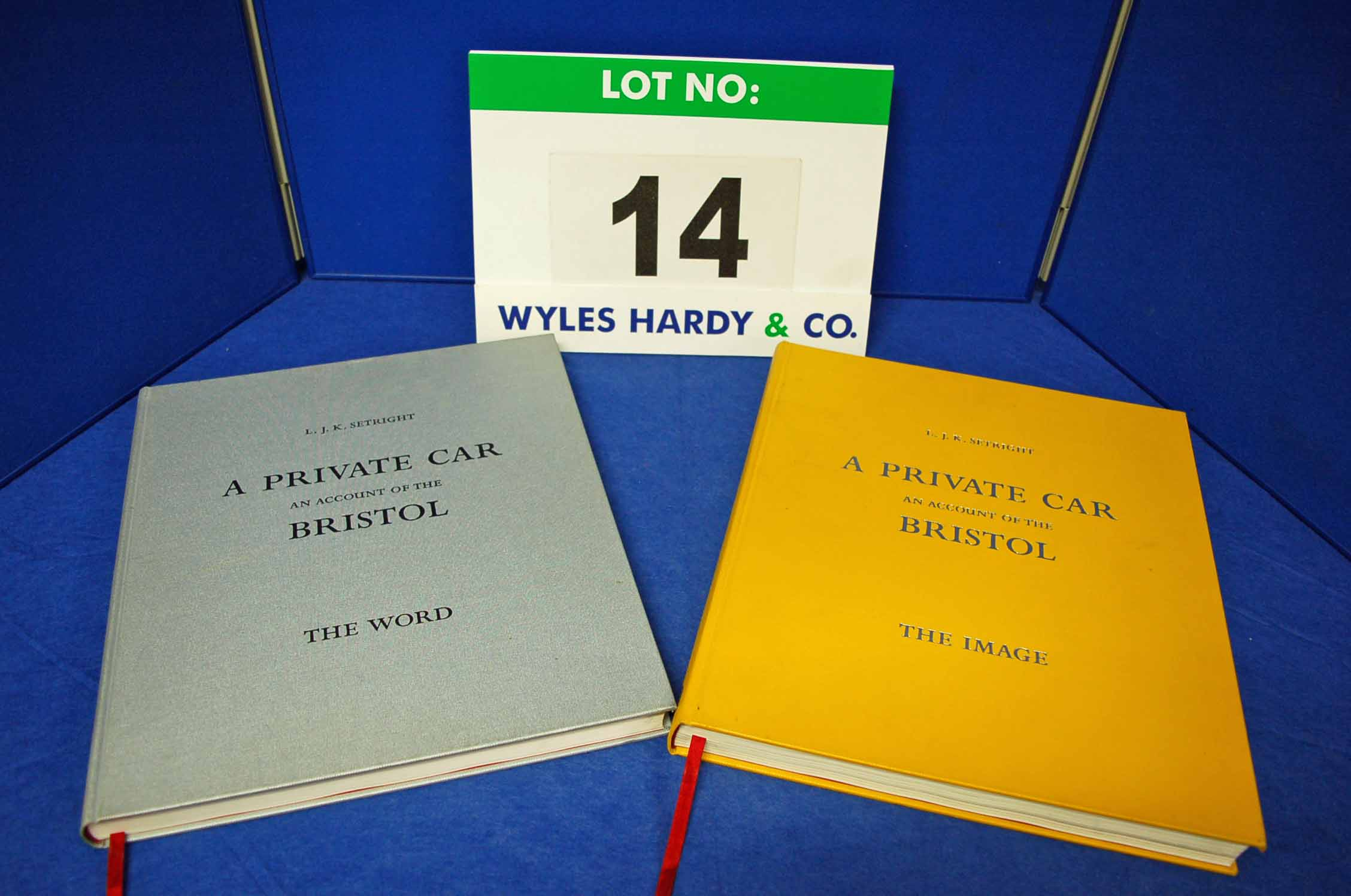 A Copy (Two Volumes) of A Private Car, an Account of the Bristol by LJK Setright comprising 'The