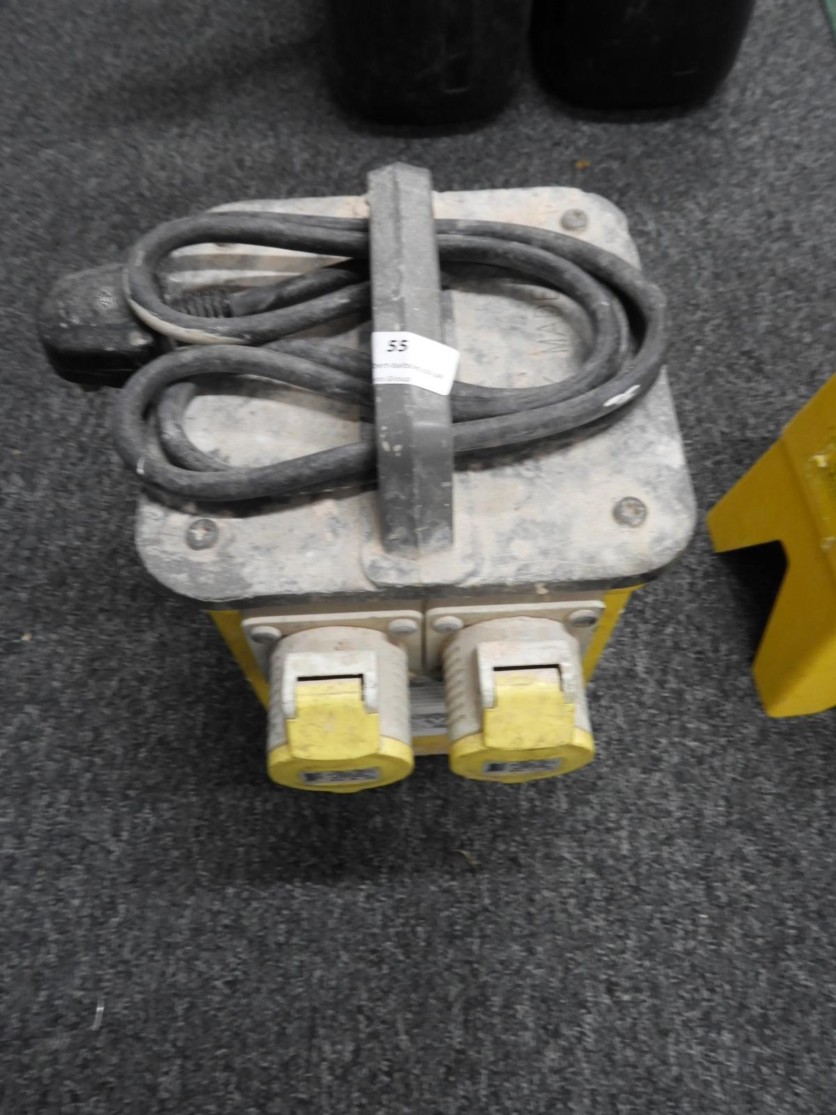 Lot 55 - *110V 3.3KvA Two Tool Transformer