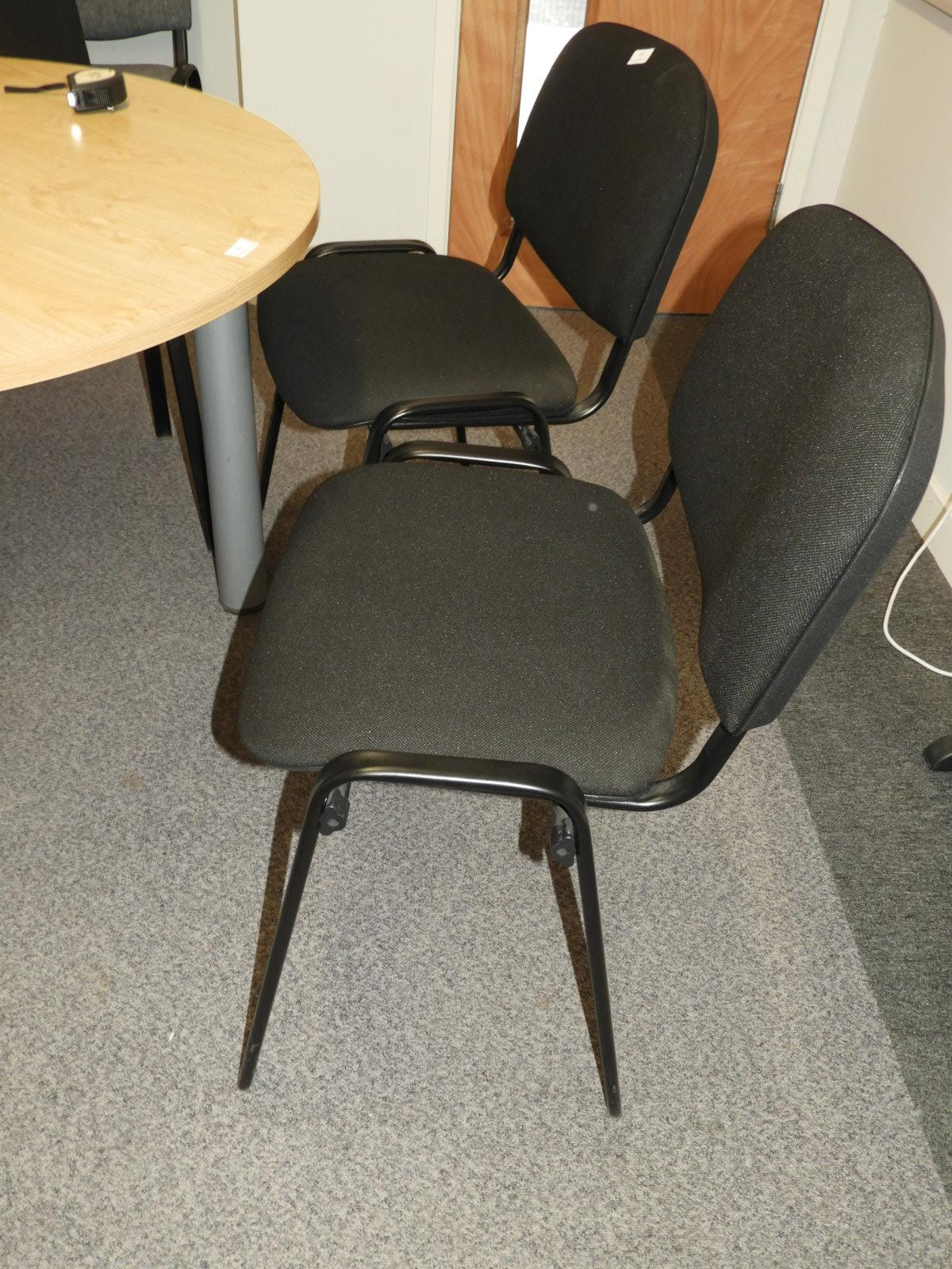 Lot 17 - *Four Black Stackable Office Chairs