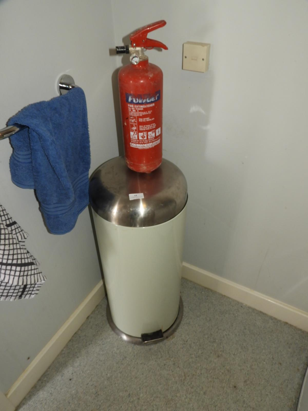 Lot 12 - *Flip Top Waste Bin and a Fire Extinguisher