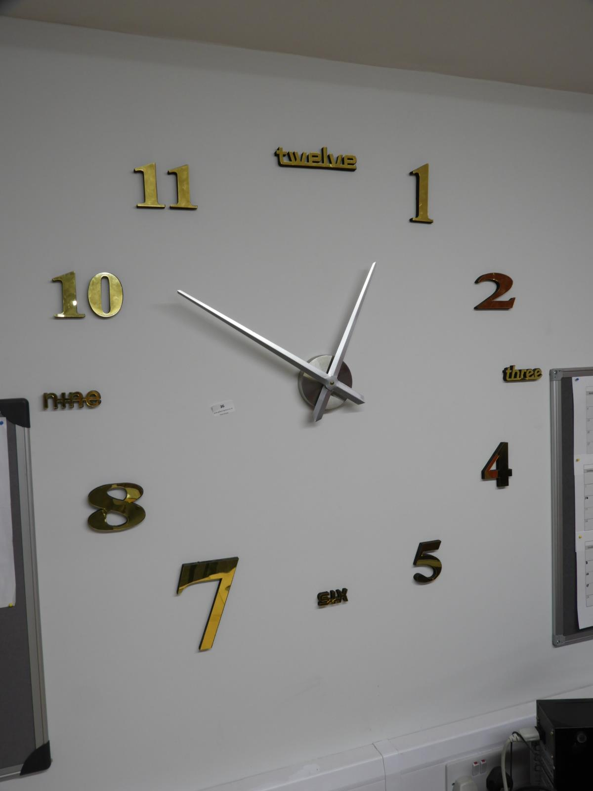 Lot 36 - *Contemporary Style Wall Clock