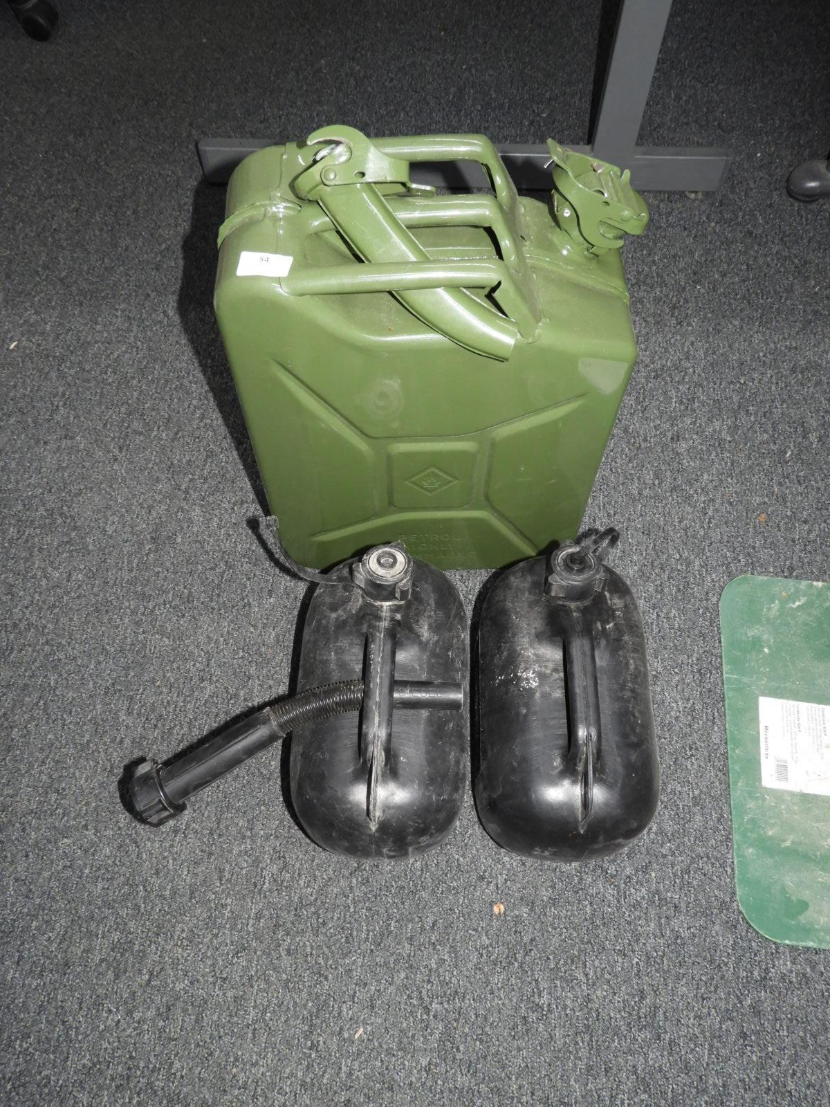 Lot 54 - *20L Jerry Can and Two Plastic Fuel Containers