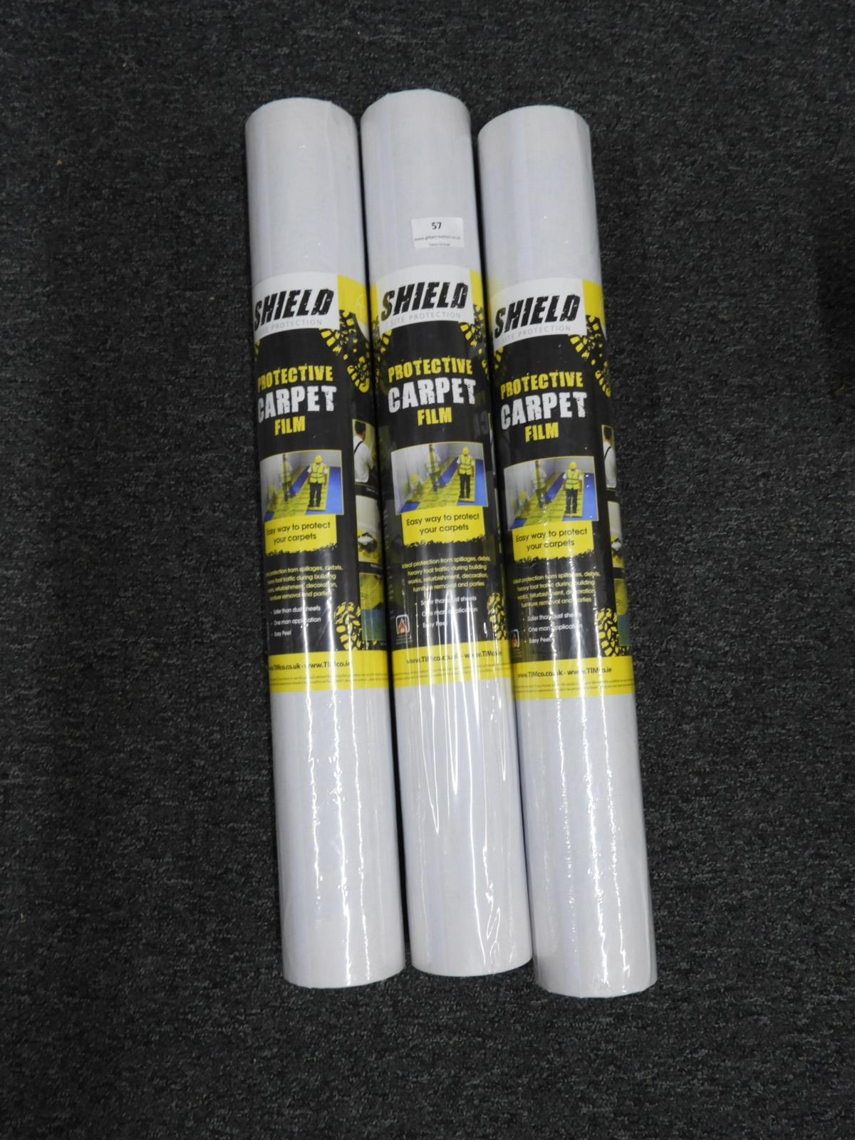 Lot 57 - *Three Rolls of Carpet Protection Film