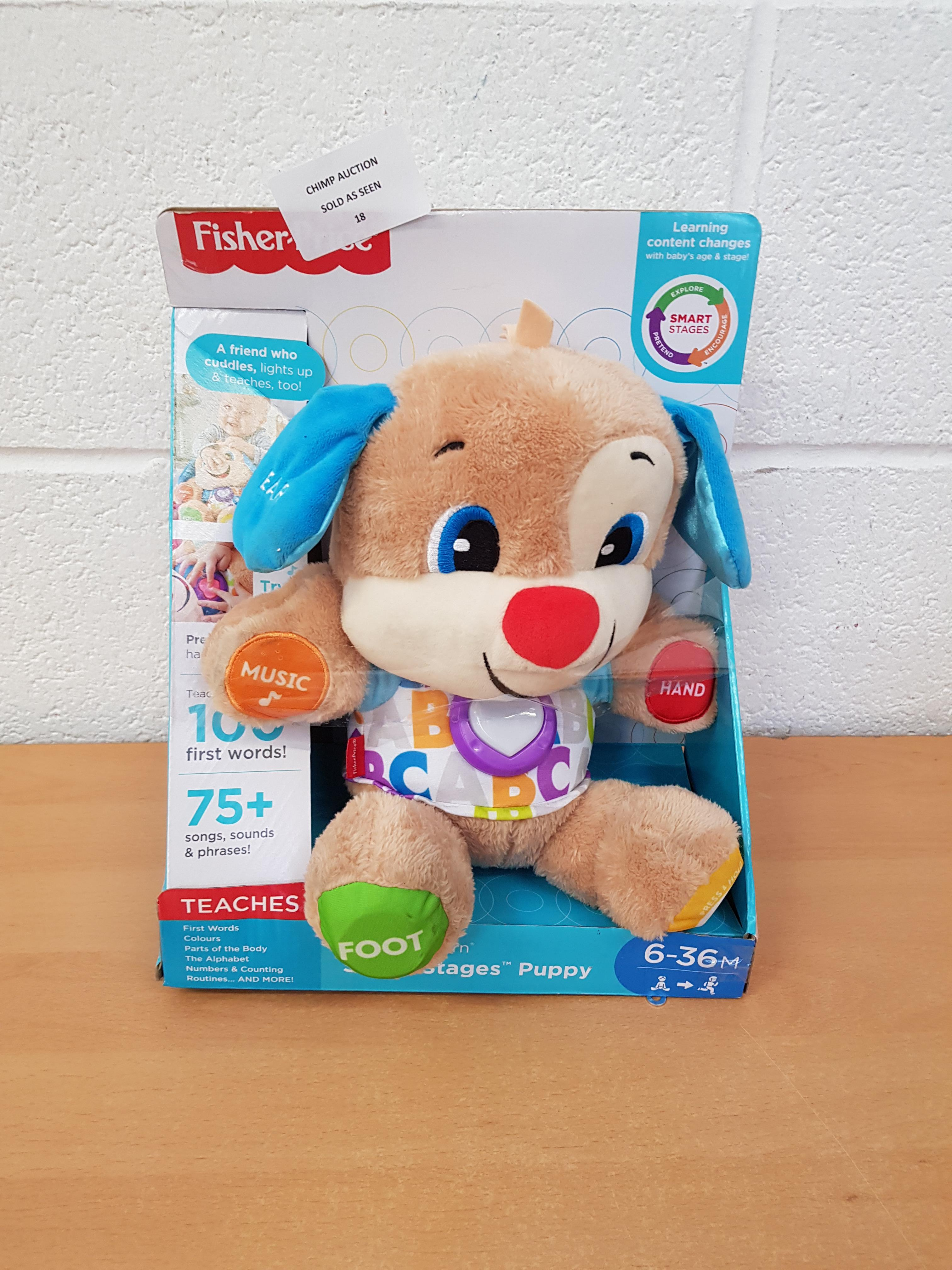 Lot 18 - Fisher Price Stages Puppy Interactive Playset