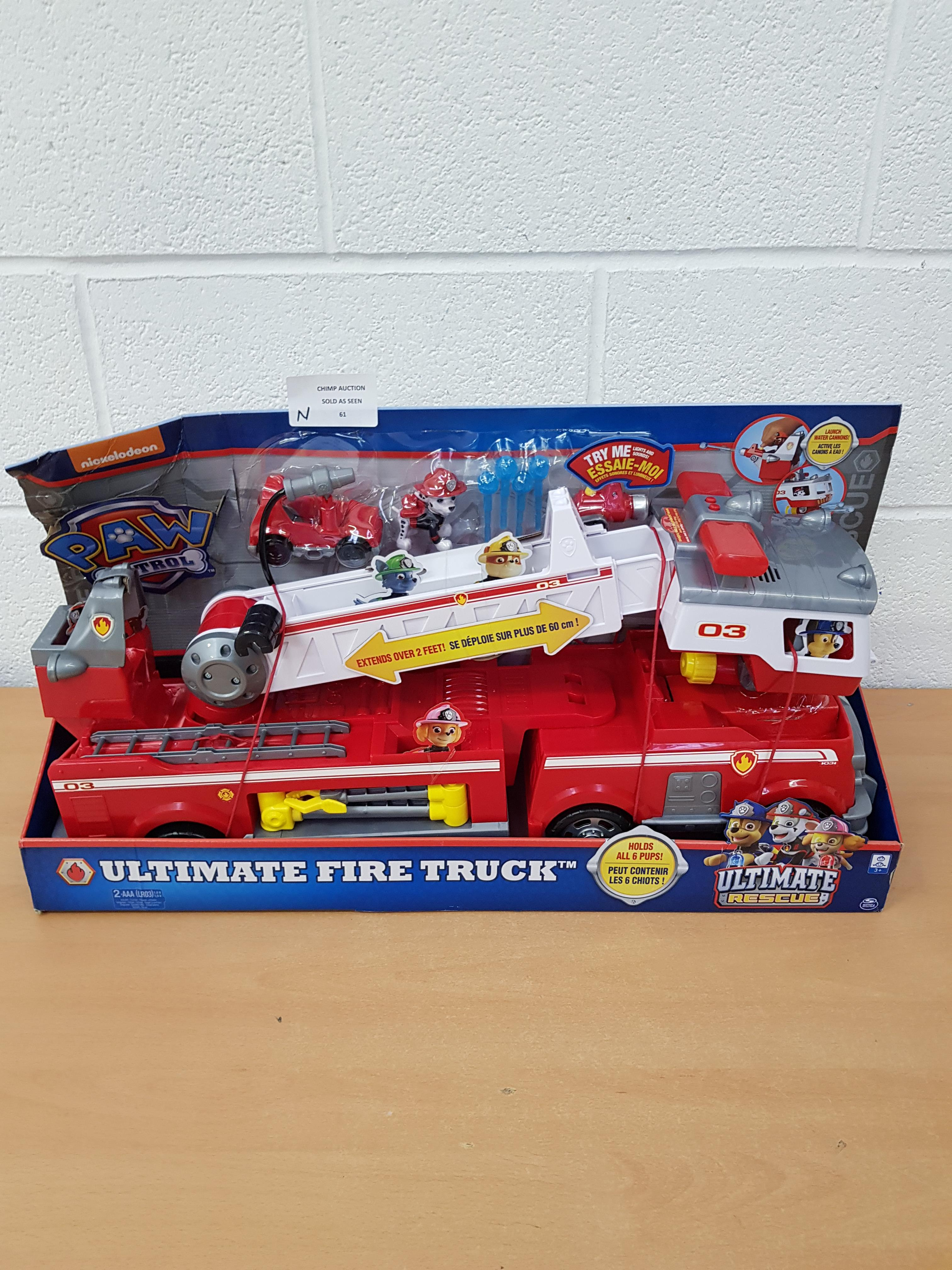 Lot 61 - Brand new PAW Patrol — Ultimate Rescue Fire Truck + 2ft Ladder RRP £69.99