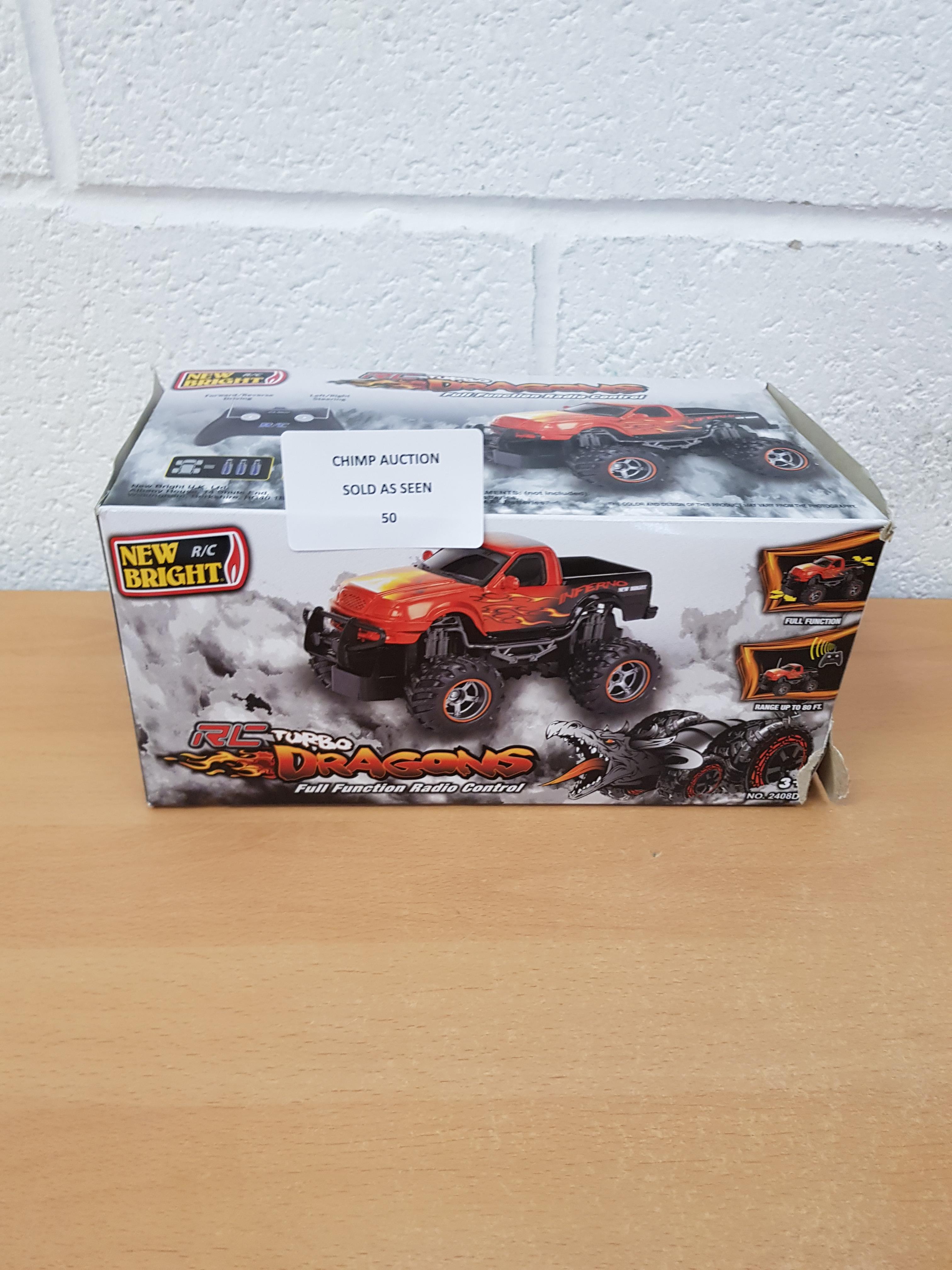 Lot 50 - N- Bright RC Turbo Dragons Radio Remote Control Car Truck Inferno