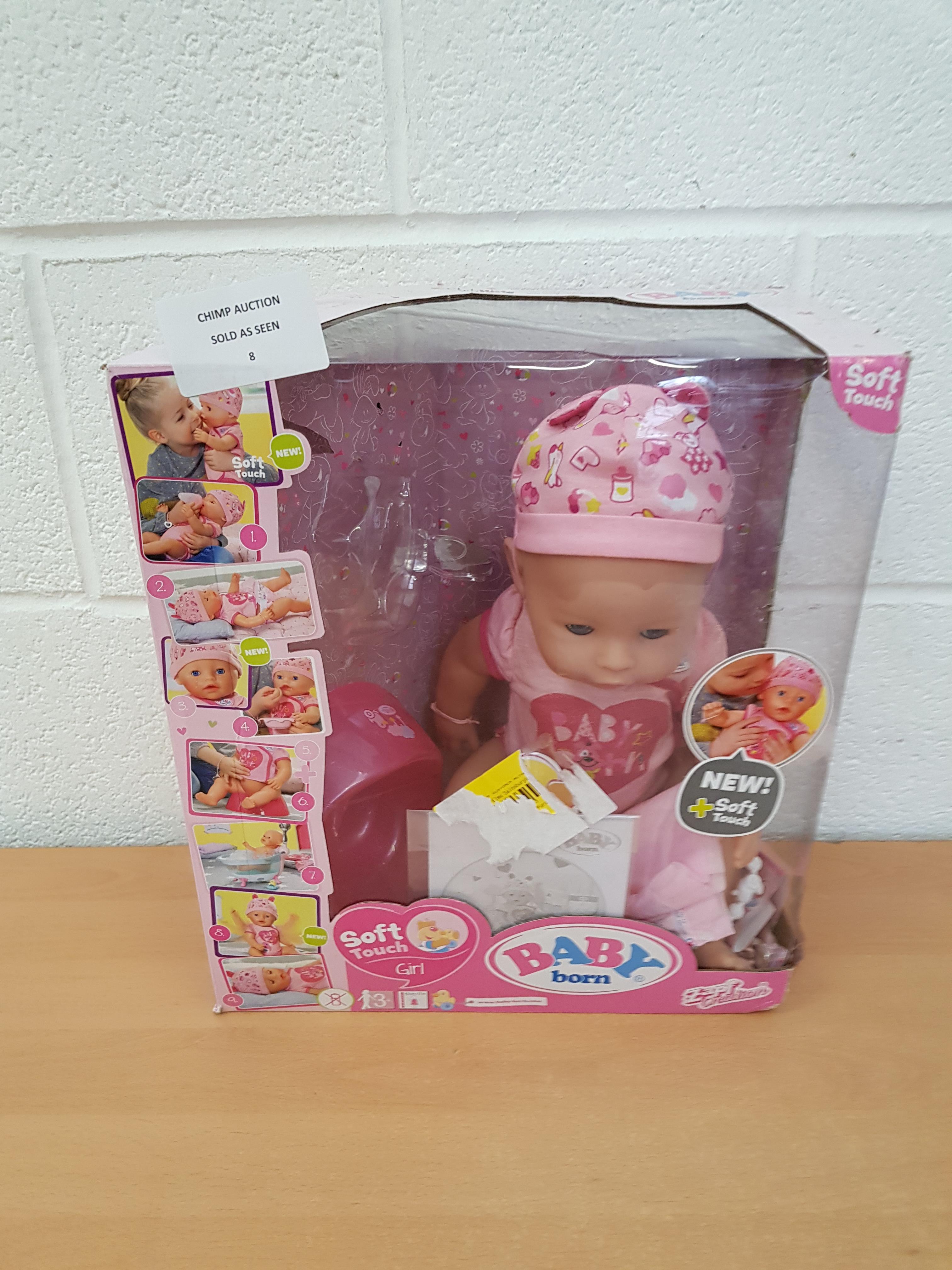 Lot 8 - Baby Born Doll interactive playset