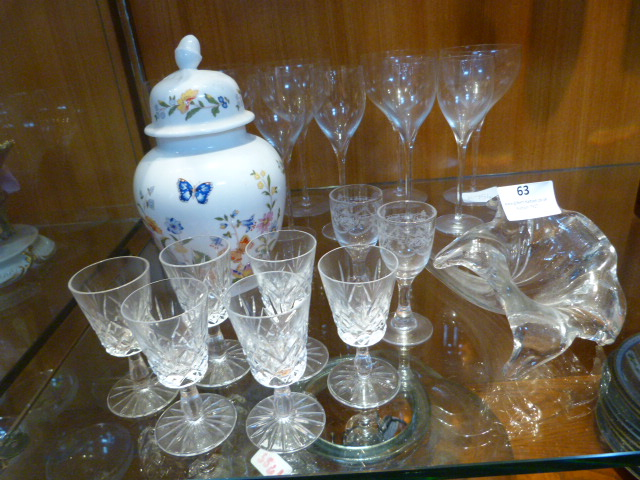 Lot 63 - Drinking Glassware and a Aynsley Lidded Vase