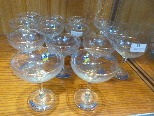 Lot 53 - Babycham Drinking Glassware 14 Pieces