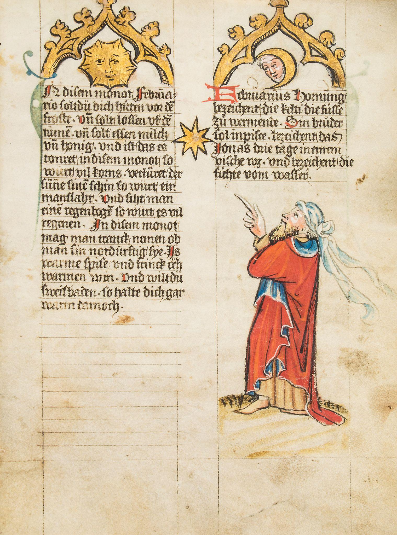 Lot 86 - The Mckell Medical Almanack, - in German, illuminated manuscript on parchment [Alsace, c  in German,