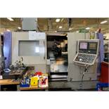 Takisawa TMM-200 Twin Spindle, Twin Turret, Y-Axis CNC Lathe, S/N TBMY4004