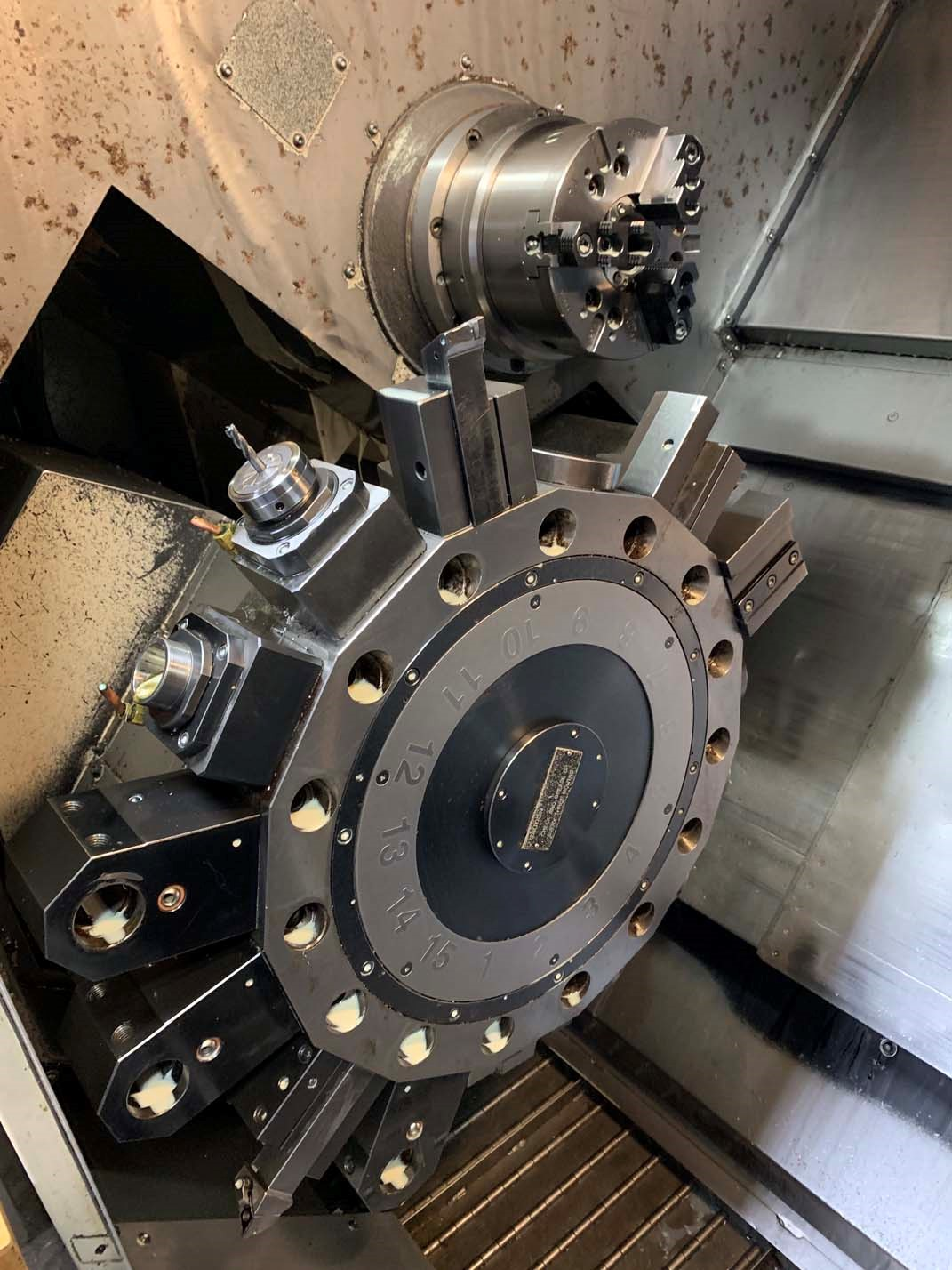 Lot 37A - Takisawa TMM-200 Twin Spindle, Twin Turret, Y-Axis CNC Lathe, S/N TBMY4004