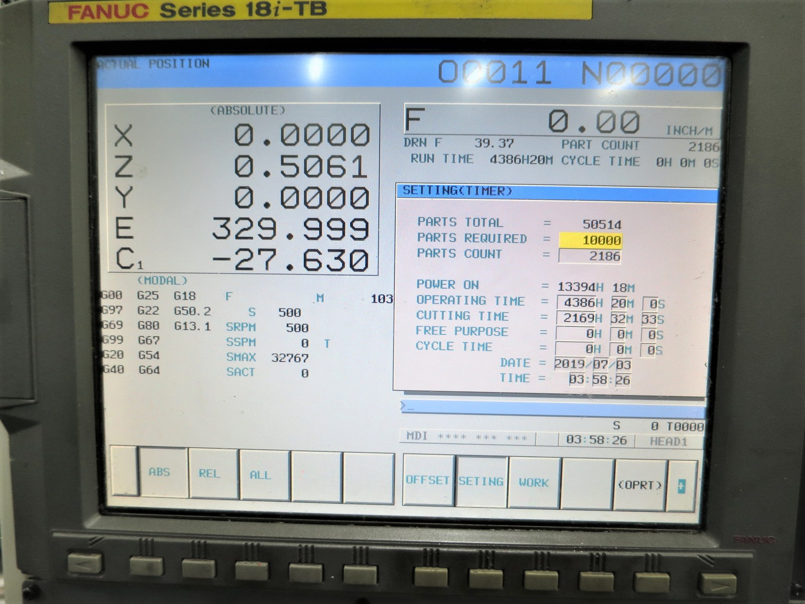 Lot 37 - Doosan Z290-SMY Twin Spindle, Twin Turret CNC Lathe W/Milling & Y-Axis, S/N 2290-SMY, New 2006