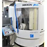 MIKRON HSM-400U HIGH SPEED 5-AXIS CNC VERTICAL MACHINING CENTER, 42,000 RPM,