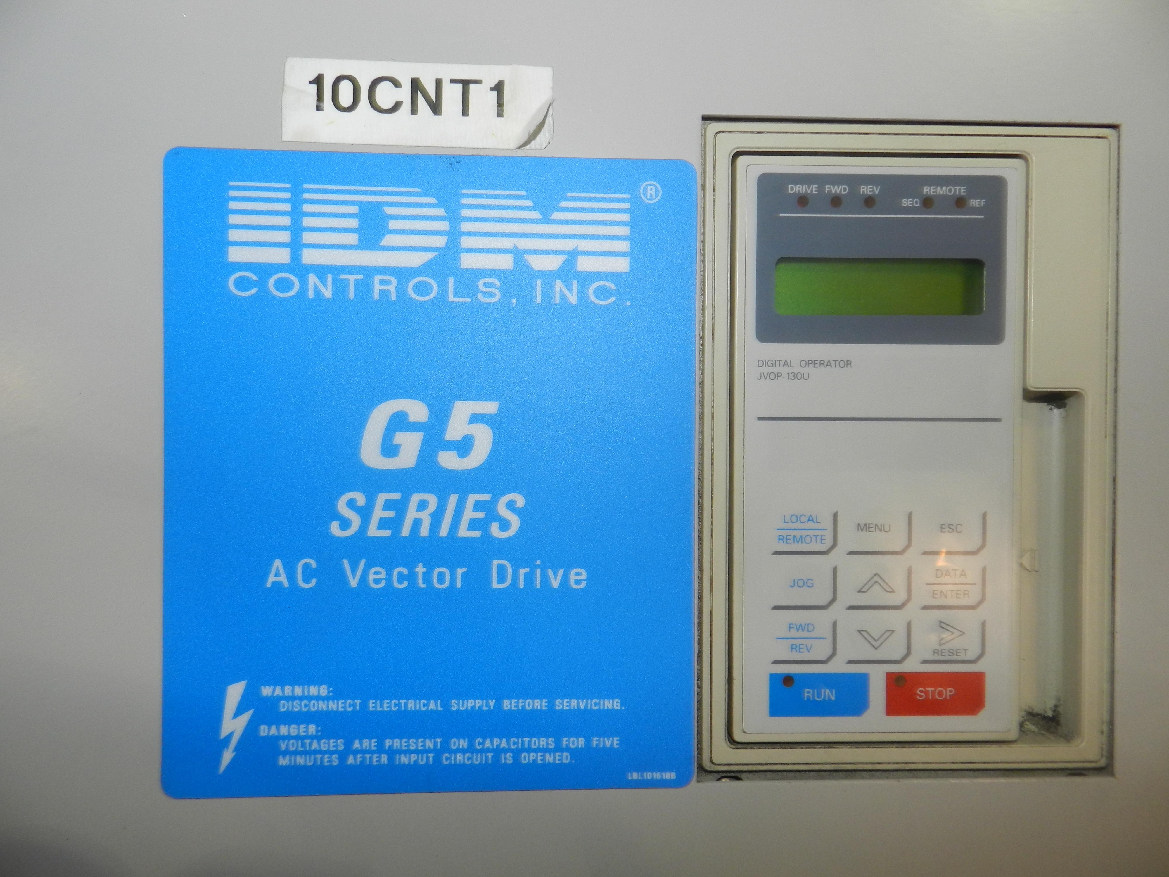 Lot 64 - IDM CIMR-G5U4018 G5 Series AC Vector Drive 46 Amp