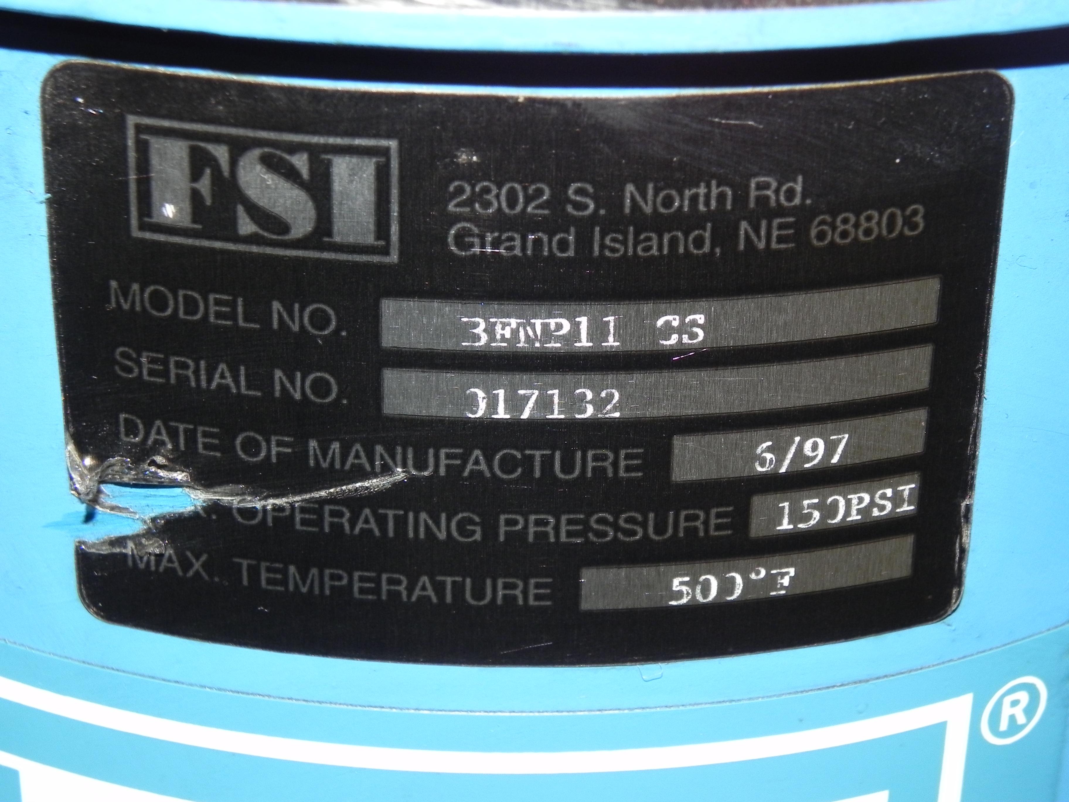 Lot 29 - FSI Bag Filter Vessel - BFNP11-CS