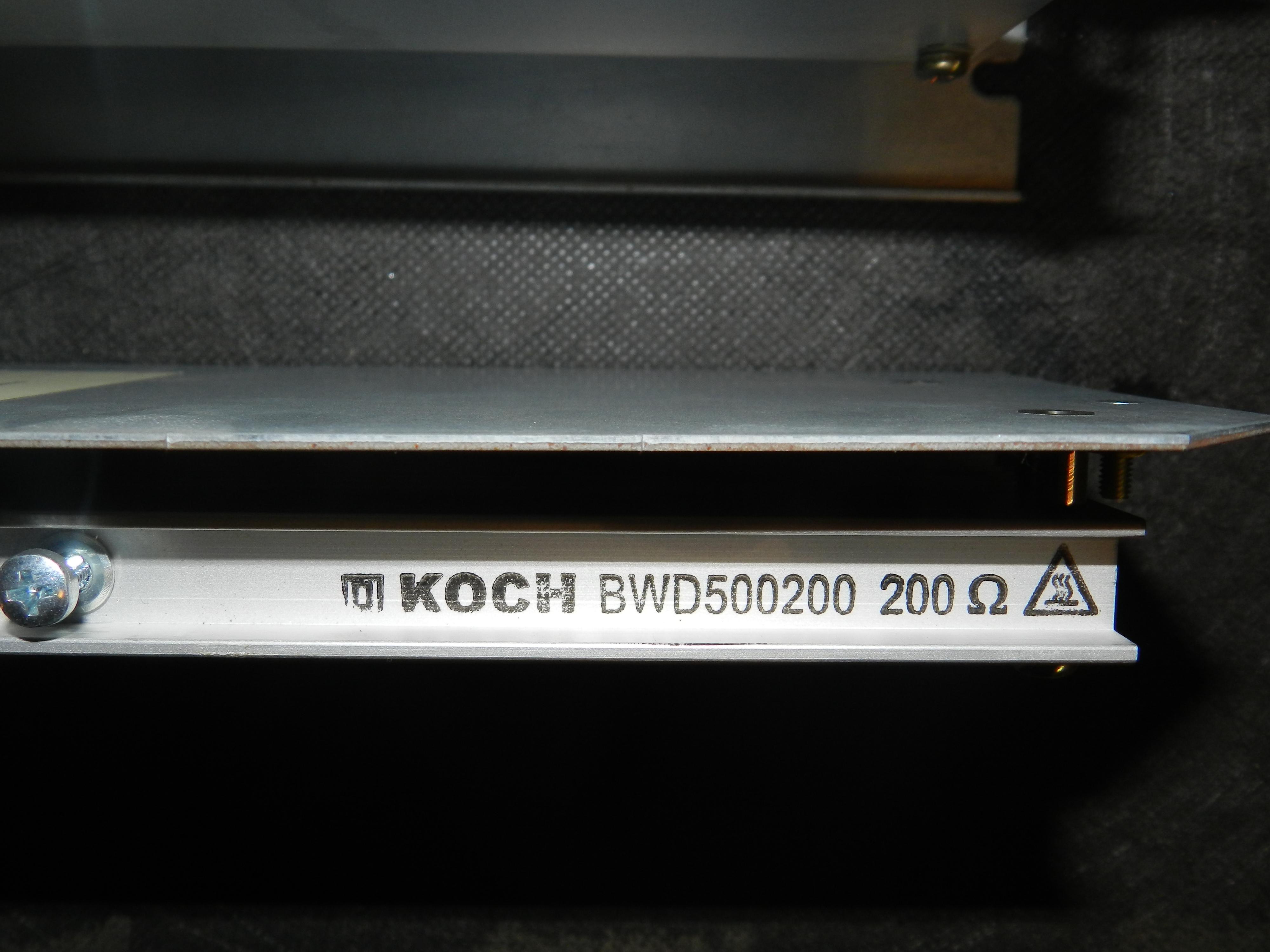 Lot 4 - Lot of 3 - Koch BWD500200 Braking Resistor