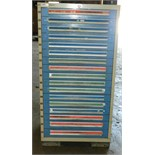 "Lot 76 - Lyon 17 Drawer Vidmar Industrial Cabinet 30"" x 27.5"" x 59"""