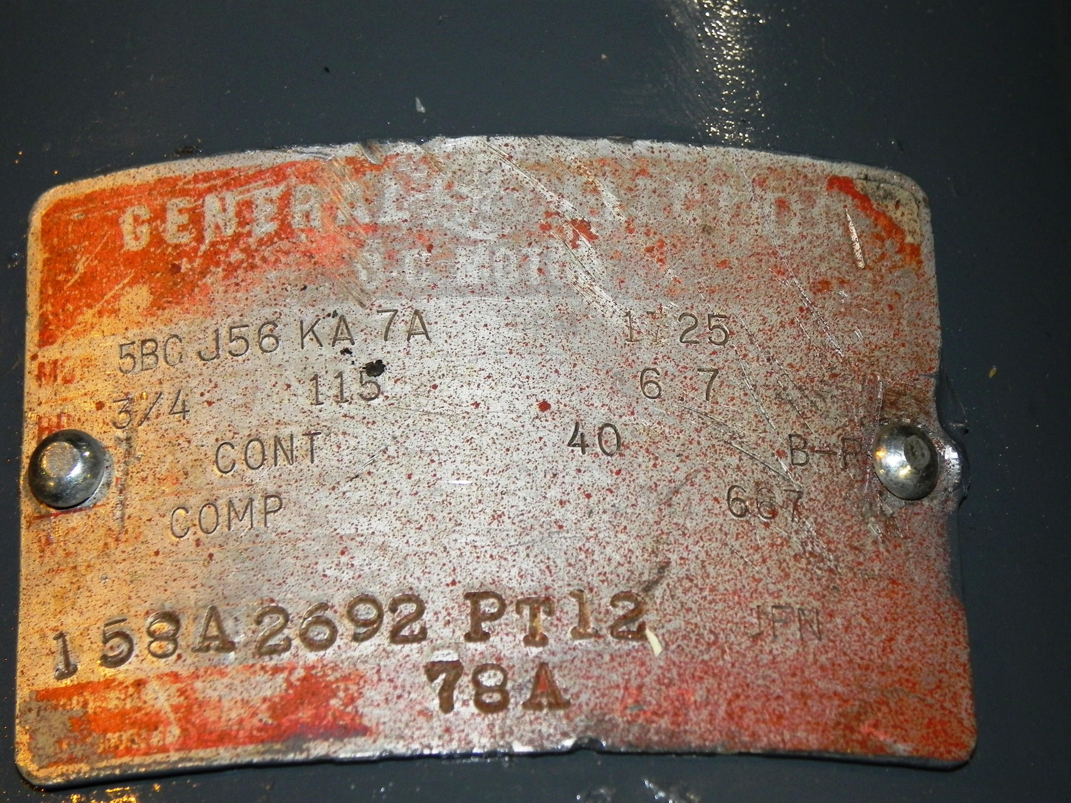 Lot 7 - GE 3/4 HP DC Motor