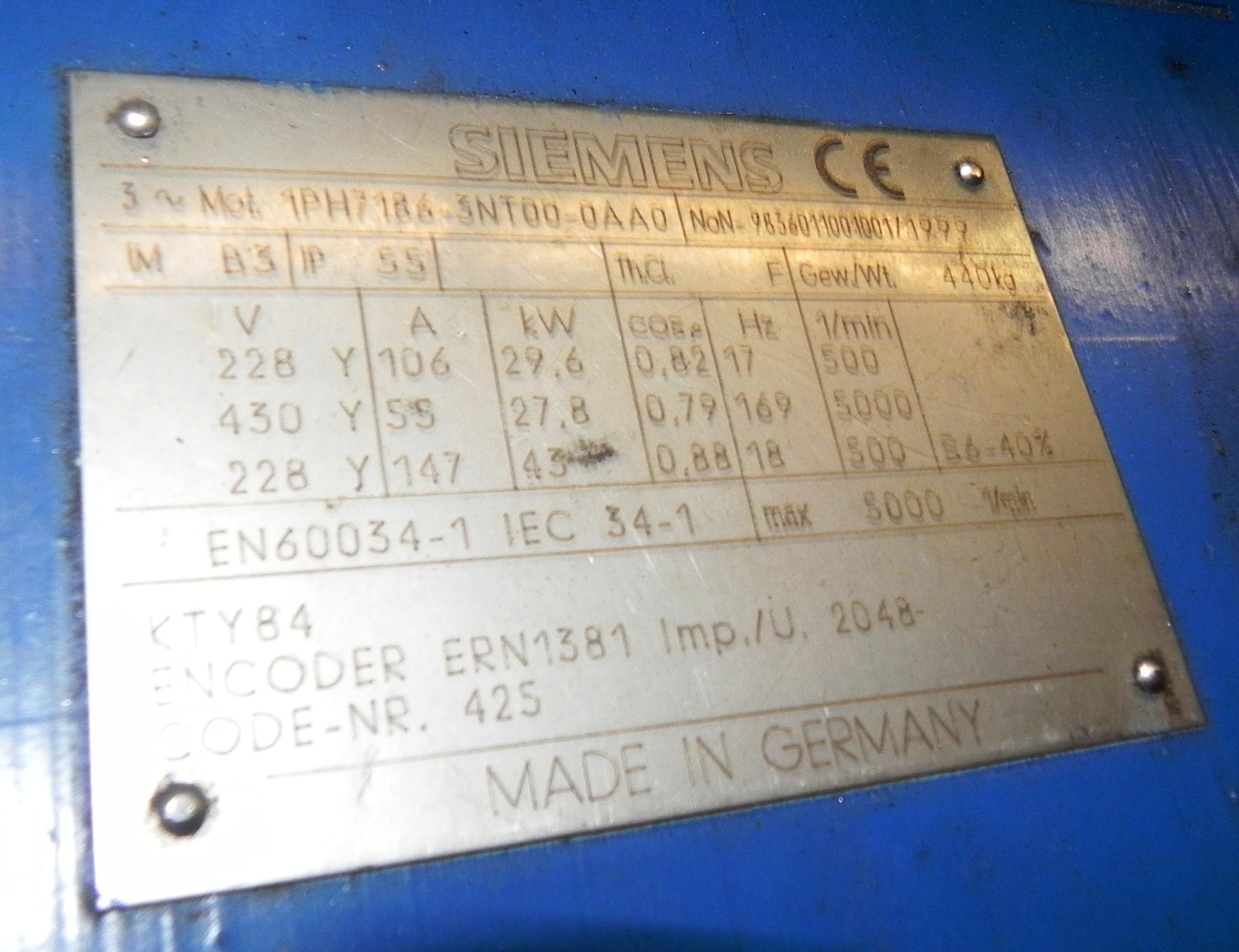 Lot 79 - Siemens 43KW Servo Motor 1PH7186-3NT00-0AA0