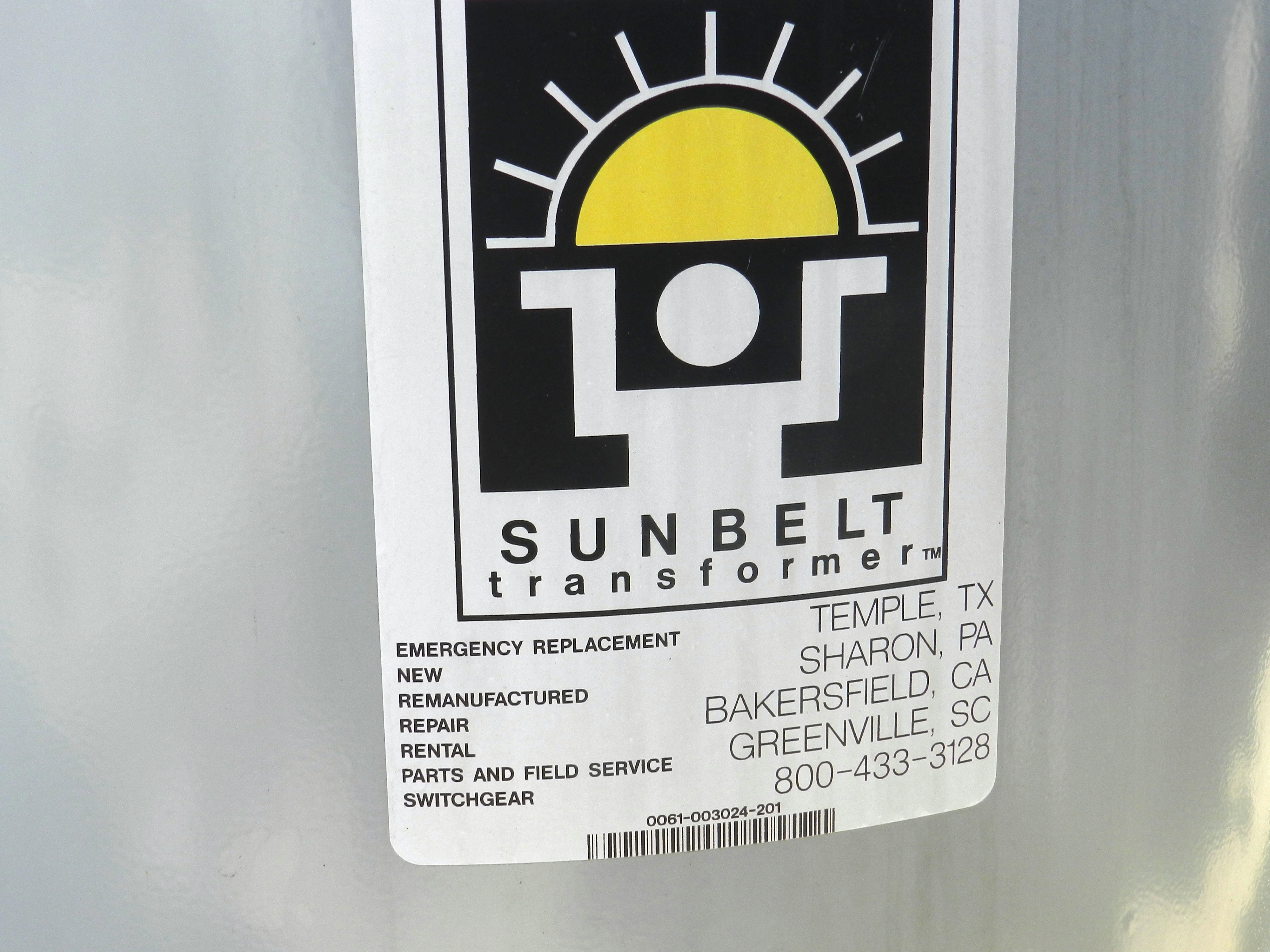 Lot 65 - Sunbelt 75 KVA Pole Mount Transformer 1 PH 2400 Volt
