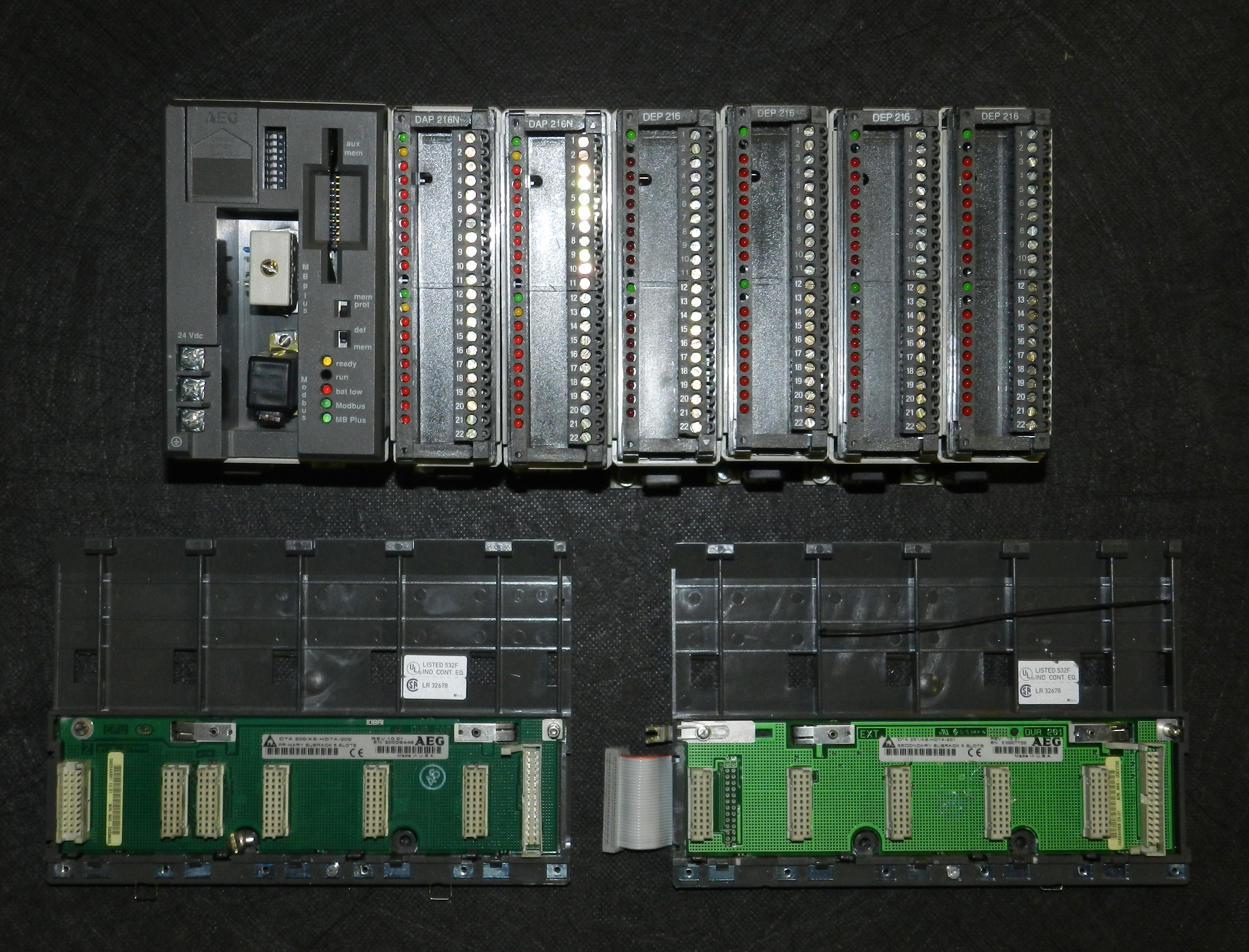 Lot 19 - AEG Modicon PC-A984-145 CPU I/O PLC Assembly Rack