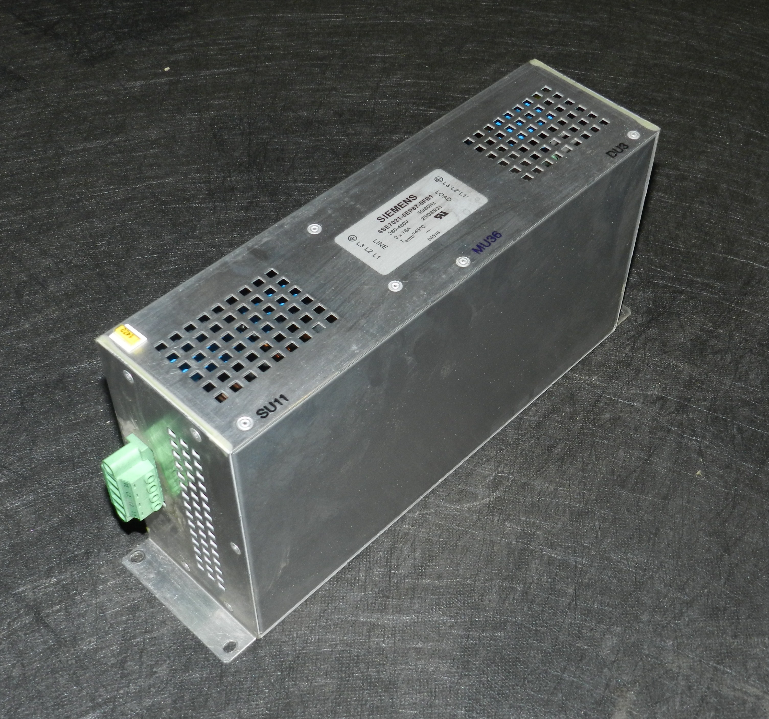 Lot 20 - Siemens 6SE7021-8EP87-0FB1 Simovert Master Drive Compact Plus EMC Filter