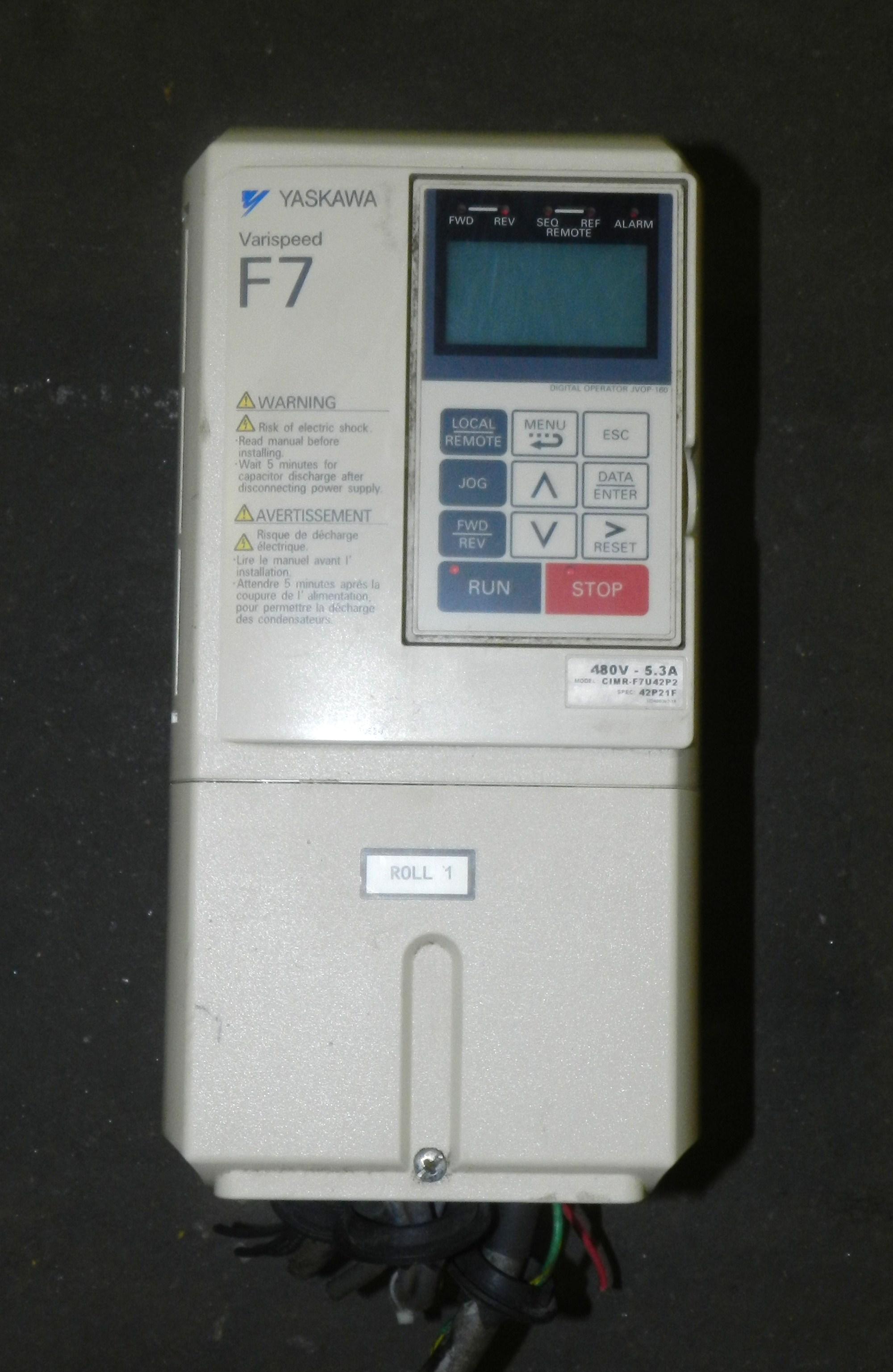 Lot 23 - Yaskawa CIMR-F7U42P2 Varispeed F7 AC Drive