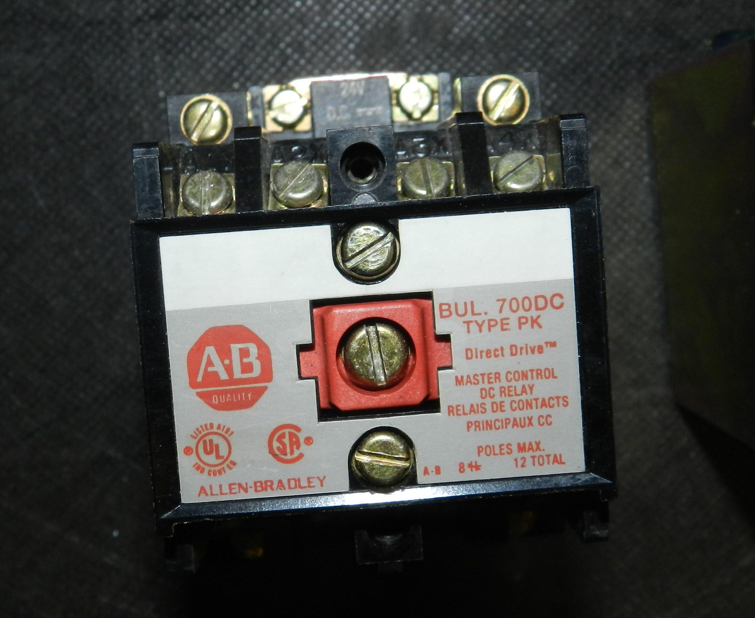 Lot 2 - Lot of 3 - Allen Bradley 700DC Relays Models: PK400Z24, P400Z24, PK1200A1