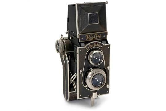 Welta Perfekta, 1934 Welta-Kamera-Werke, Freital. TLR 6 x 6 cm, Trioplan...