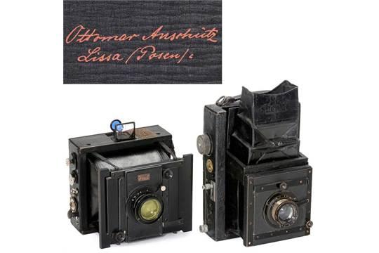 Mentor (Zusammenlegbare Spiegelreflex kamera) und Goerz-Anschütz...