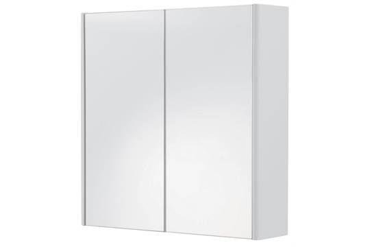 boxed cooke and lewis tobique single door mirrored bathroom cabinet