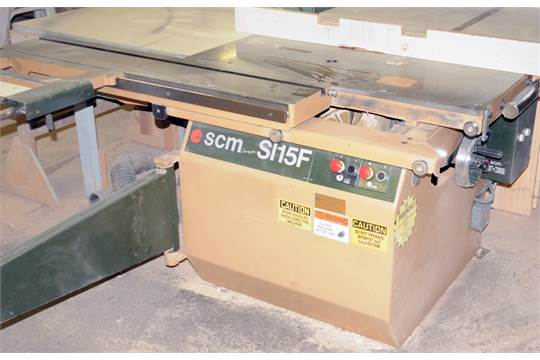 SCM SI15F SLIDING TABLE CONVENTIONAL SAW WITH 60