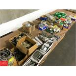 Assorted Hardware with Pipe Hangers, Bolts, Brackets and Bearings Rigging Fee: 40