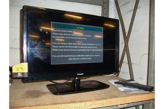 polaroid 19 led tv dvd combi unit including desktop stand remote rh bidspotter co uk 22 Inch Polaroid TV Polaroid TV Problems
