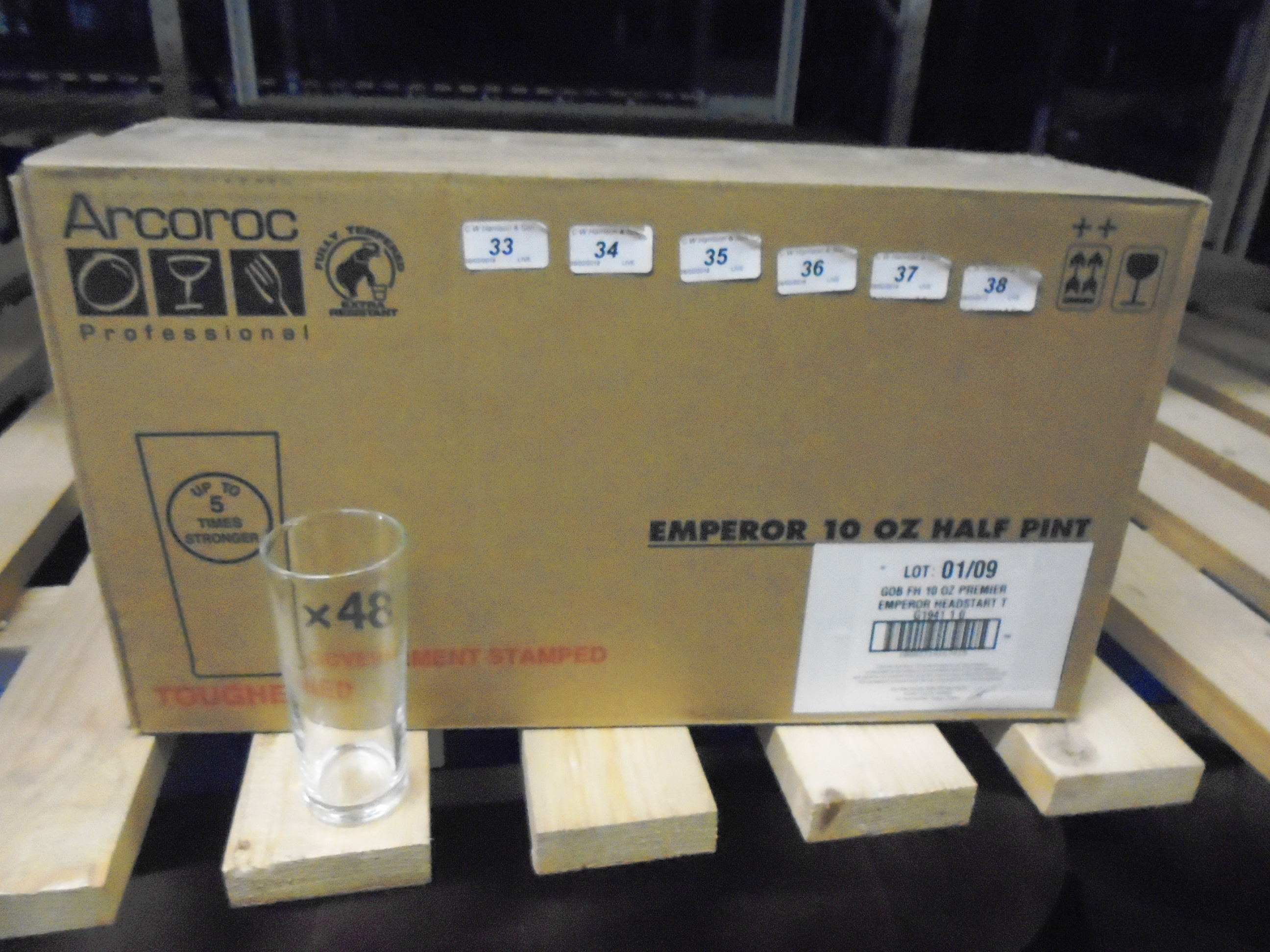 Lot 35 - 96 x Arcoroc Emperor half pint glasses (2 x outer boxes)