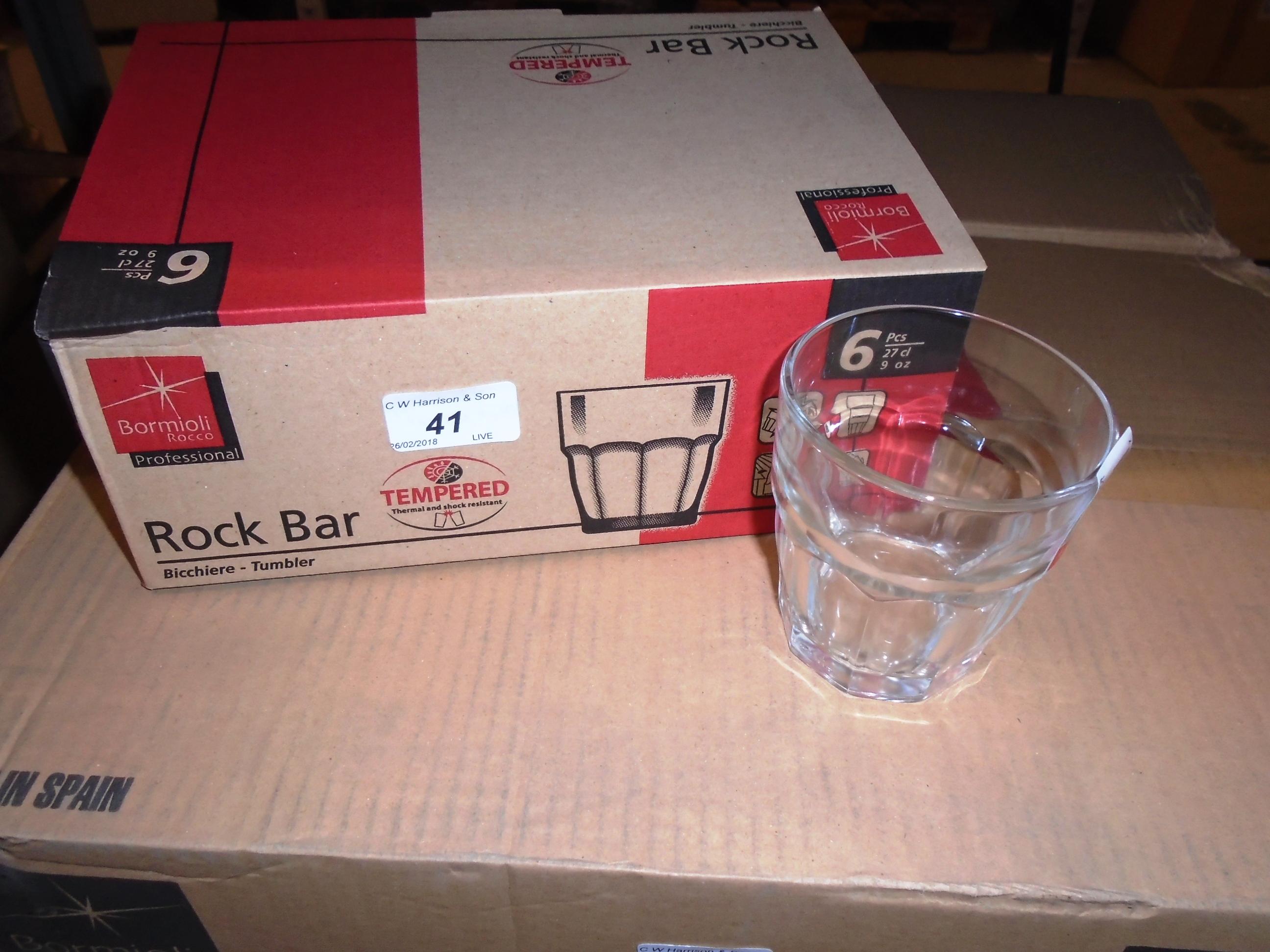 Lot 41 - 48 x Bormioli rock bar glasses - 1 x outer box